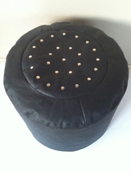 Handmade Leather Ottoman - Made to Order (Other colours available)