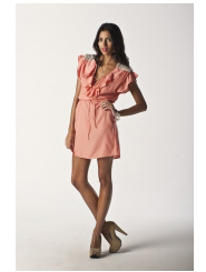 peachy peach - lulu dress