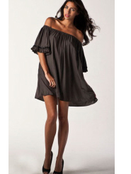 olive omi - ruffle puff dress