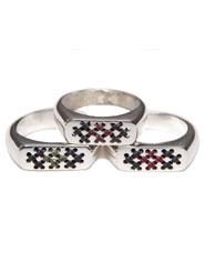 Banjara Jewellery - Tribal Signet Ring (Sterling Silver)