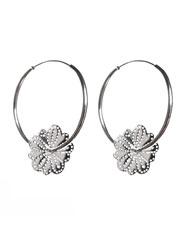 Banjara Jewellery - Wild Daisy Hoop Earrings (Sterling Silver)