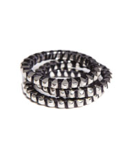 Banjara Jewellery - Tribal Wrapped Stack Rings (Sterling Silver)
