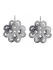 Banjara Jewellery - Wild Shamrock Earrings (Sterling Silver)