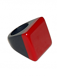 SICILIAN SQUARE RESIN RING