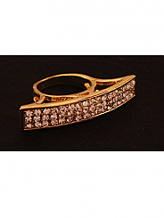 Chosen By - Gold Crystal Ring