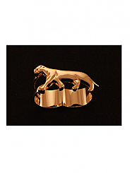 ATAT - Gold panther 2 Finger Ring