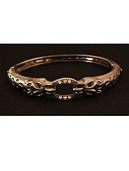 Chosen By - Antique Silver Leopard Bangle