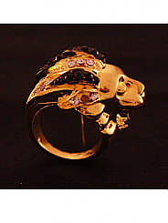 chosen By - Gold Lion Ring