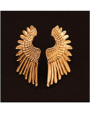 Chosen By - Gold Angel Wing Earrings