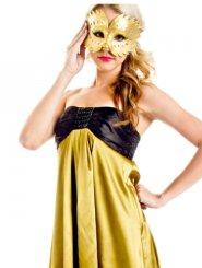 Black Jewel Dress - Gold