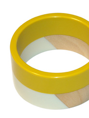 Abstract Puzzle Bangle Buttercup