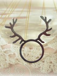 Stainless Steel Deer Antler Ring