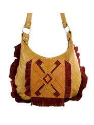 Apache Bag - Red Suede