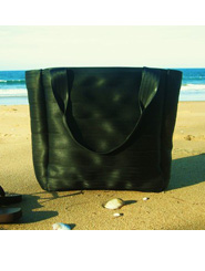 Black Recycled Vintage Seatbelt Tote by som and tooby