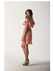 peachy peach - pixie dress