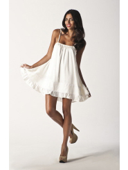 pearl white - lacey love dress