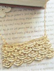 Gold Lace Strip Necklace