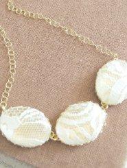 Triple Oval Lace Centrepiece Necklace