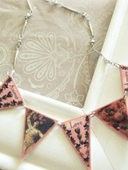 Pink Amour Bunting Necklace