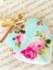 Porcelain Floral Heart Necklace