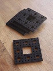Fractal coasters: set of 4