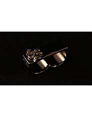 ATAT - Black Skull 2 Finger Ring