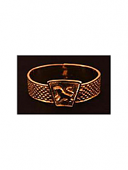 ATAT - Gold checkered Lion Bangle