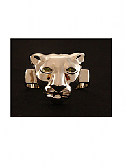 ATAT - Silver Lioness 3 Finger Ring