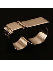 ATAT - Silver 2 Stripe 2 Finger Ring