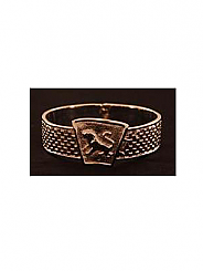 ATAT - Silver Checkred Lion Bangle